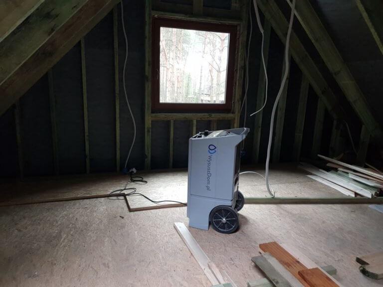 Leźniczka Buczek – osuszanie domu z bala